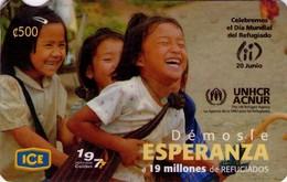 TARJETA TELEFONICA DE COSTA RICA. (PREPAGO). ACNUR, DIA MUNDIAL DEL REFUGIADO. 029. - Costa Rica