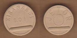 AC -  TRANSPORT TOKEN KIRANARDI MUNICIPALITY  BUS COMPANY BROWN TOKEN JETON - Monetary /of Necessity
