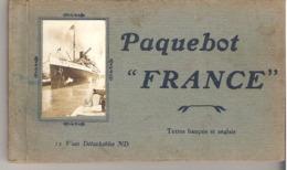 Paquebot France  -  Carnet De 13 Cartes Détachables - Dampfer