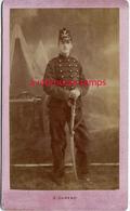 CDV Vers 1880-soldat Devant Canon-peut être 8e R Sur Col- à Vérifier-photo Durand Châlons Sur Marne - War, Military