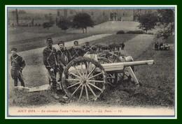 """CPA Août 1914 En Attendant L' Ordre """" Ouvrez Lz Feu """" écrite BE - Guerre 1914-18"""