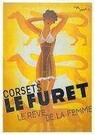 PUB Publicité NUGERON J 131 Corsets LE FURET (lingerie)  (d'après Affiche Roger Perrot Bibliothéque Fornay*PRIX FIXE - Advertising