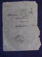 ***RARE *** BALLON MONTÉ Sept.1870 Pour La CREUSE,A. ROSELEUR , R. Gravilliers  Paris,pour Sa Femme Léonie / Début Siège - Postmark Collection (Covers)