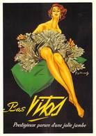 PUB Publicité NUGERON J 100  Bas VITOS. Jolie Jambe D'après Affiche G-DEMACHY -Bibliothéque Fornay*PRIX FIXE - Advertising