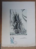"T.A.A.F.  1988 . ""La Fortune"" Sur Gravure De La Poste .tirage 1500 Exemplaires N°812. - French Southern And Antarctic Territories (TAAF)"