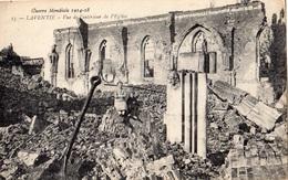 LAVENTIE VUE DE L'INTERIEUR DE L'EGLISE GUERRE MONDIALE 1914 18 - Laventie