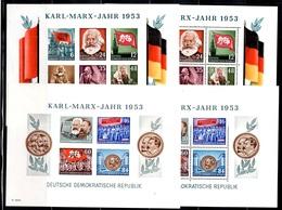 Allemagne/RDA Blocs-feuillets Karl Marx YT N° 2/3 Et 2A/3A Dentelés Et Non Dentelés Neufs ** MNH. TB. A Saisir! - DDR