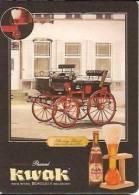 Carte Publicité Sous Bock- Brouwerij Bosteels Brasserie-bière- Kwak-shooting Break-cpm - Reclame
