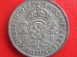 2 SHILLING ARGENT 1942  - GEO VI - 1902-1971 : Post-Victorian Coins