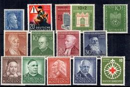 Allemagne/RFA Belle Petite Collection Neufs ** MNH 1950/1951. Bonnes Valeurs. TB. A Saisir! - Unused Stamps