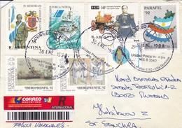 SOBRE ENVELOPE. OBLIT 1998, VILLA DOMINICO. RECOMMANDE. MIXED STAMPS.-TBE-BLEUP - Argentine