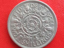 2 SHILLING ARGENT 1956  - ELIZABETH II - 1902-1971: Postviktorianische Münzen