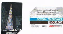 TELECOM ITALIA - C.& C. 2934  - VITERBO, MACCHINA DI SANTA ROSA      - USATA   - RIF. CP - Italia