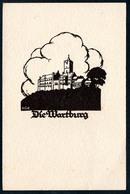 B1916 - A. M. Schwindt Scherenschnitt Glückwunschkarte - Die Wartburg - Chlodwig Rinck Darmstadt - Silhouettes