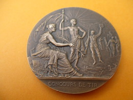TIR Carabine / Médaille De Table / Concours De Tir /A Q  /  Bronze Coulé / 1956        SPO273 - Deportes
