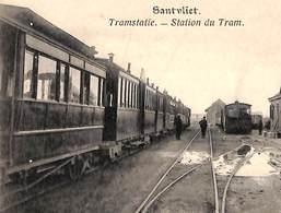 Santvliet - Sandvliet - Tramstatie - Station Du Tram (animation, 1901) - Antwerpen