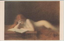 """La Liseuse""  Quadro Dipinto Da G.G. Henner. Museo Del Louvre - Paintings"