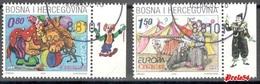 Bosnia Croatian Post -  EUROPA 2002 Used Set - Bosnie-Herzegovine