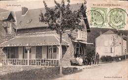 Pussemange - Café Français - En Vue Du Poteau Frontière (animée, Café, Edit. Barbier-Cochinard, Douane, 1910) - Vresse-sur-Semois