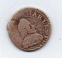 Monnaie France Ardennes Charles De Gonzague Double Tournois, 1637 - 987-1789 Royal