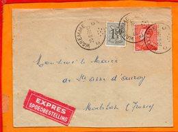 BELGIQUE, Lettre De Waremme Pour Ste Anne D'Auray (Morbihan) - Postmarks - Points