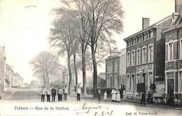 Fléron - Rue De La Station (belle Animation, Hôtel, Terrasse, Edit. H. Thône-David, 1907) - Fléron