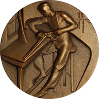 ESPAÑA. MEDALLA DE LA F.N.M.T. DE LA SERIE OFICIOS TITULADA ARMERÍA. 1.957. ESPAGNE. SPAIN MEDAL - Profesionales/De Sociedad