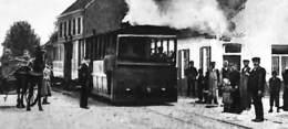 Hekelgem - Het Oud Zandtapijt (tram Tramway Animatie, Echte Foto, Nels, Rond 1900-) - Affligem