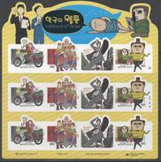 SOUTH KOREA, 2017, MNH, WEBTOONS, SHEETLET OF 3 SETS - Enfance & Jeunesse