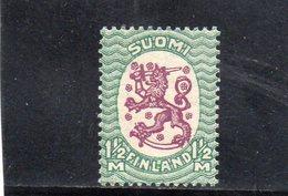 FINLANDE 1925-9 * - Unused Stamps