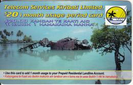 KIRIBATI - TSKL Recharge Card $20, Used - Kiribati