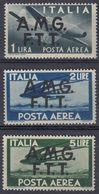 TRIESTE, OCCUPAZIONE ANGLOAMERICANA - 1947 - Lotto 3 Valori Nuovi MNH Posta Aerea: Yvert 1/3. - 7. Trieste