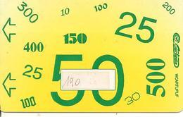 -CARTE-MAGNETIQUE-CARTADIS 50 MONEO-Plastic Fin--TBE - Frankrijk