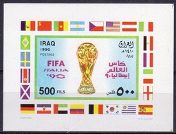 Irak 1990, Football World Cup In Italy, BF IMPERFORATED - Coupe Du Monde