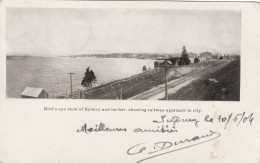 Bird's-eye View Of Sydney And Harbor, Showing Railway Approach To City - Nova Scotia