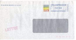Lette COURRIER ELECTRONIQUE De La Poste - TELEIMPRESSION - PORT PAYE - Marcophilie (Lettres)