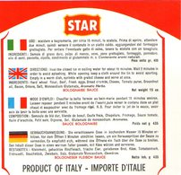 B 1885 - Etichetta, Star Agrate Brianza - Fruits & Vegetables