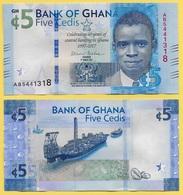 Ghana 5 Cedis P-43 2017 Commemorative  UNC - Ghana
