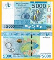 French Pacific Territories 5000 Francs P-7 2014 UNC - Territoires Français Du Pacifique (CFP)