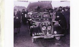 Monte-Carlo Rallye 1949  -  Concurrents En Peugeot 402   - 15x10 PHOTO - Rallyes