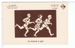 CPA-CARTE PHOSPHORESCENTE-3 COUREURS A PIED-SOCIETE RADIANA ..PARIS-SILHOUETTES DES ATELIERS E.S- - Controluce
