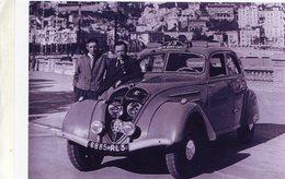 Monte-Carlo Rallye 1950  -  Concurrents En Peugeot 402   - 15x10 PHOTO - Rallyes
