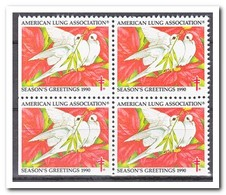 Amerika 1990, Postfris MNH, American Lung Association ( Left And Under Imperf. ) - Machine Stamps (ATM)