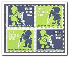 Amerika 1963, Postfris MNH, Easter Seals ( Left Imperf. ) - Frankeervignetten
