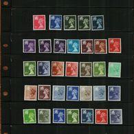 GREAT BRITAIN - QEII - 1971 - WALES REGIONAL MACHINS - 33 Stamps - MNH - Unused Stamps