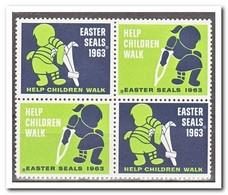 Amerika 1963, Postfris MNH, Easter Seals - Machine Stamps (ATM)