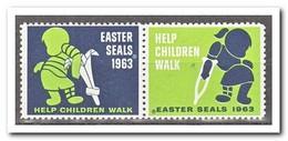 Amerika 1963, Postfris MNH, Easter Seals - Frankeervignetten
