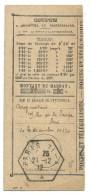 RECEPISSE DE MANDAT / PARIS 71A 1912 - Postmark Collection (Covers)