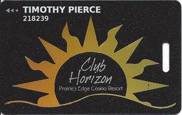 Prairie's Edge Casino - Granite Falls, MN - Slot Card With Metallic Sun Burst - Casino Cards