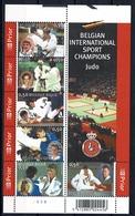 Belg. 2005  Bl 121** (3407/12) , Yv 3392/3397** Judo In België / Le Judo En Belgique - Blocs 1962-....